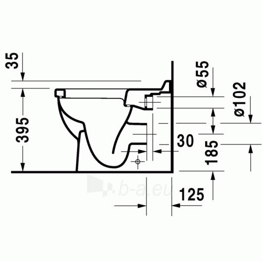 Duravit Starck3 actable toilet withaut tank Paveikslėlis 3 iš 5 270713000466