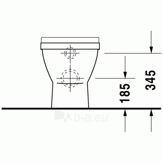 Duravit Starck3 actable toilet withaut tank Paveikslėlis 4 iš 5 270713000466