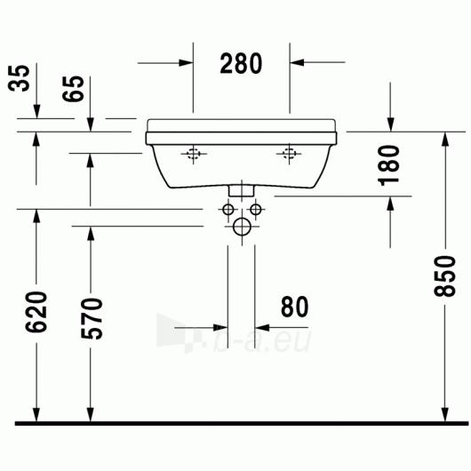 Duravit Starck3 praustuvas 55x37 Compact Paveikslėlis 1 iš 3 270711000673