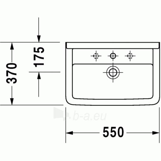 Duravit Starck3 praustuvas 55x37 Compact Paveikslėlis 2 iš 3 270711000673