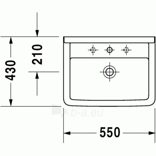 Duravit Starck3 praustuvas 55x43 Paveikslėlis 1 iš 4 270711000674