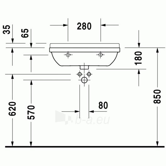 Duravit Starck3 praustuvas 60x37 Compact Paveikslėlis 1 iš 3 270711000675