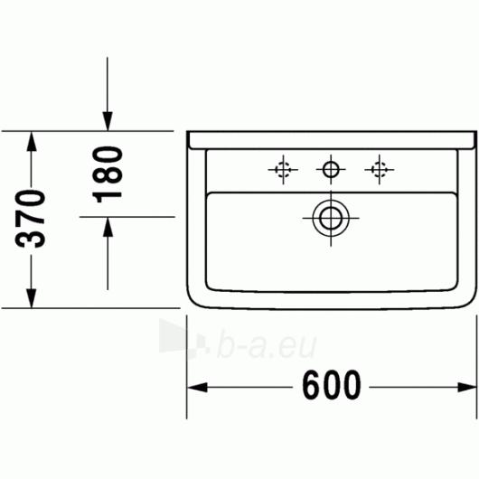 Duravit Starck3 praustuvas 60x37 Compact Paveikslėlis 2 iš 3 270711000675