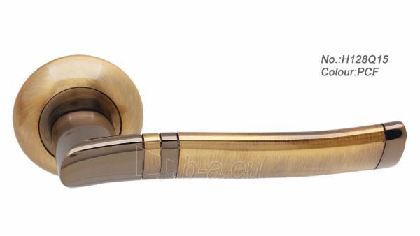 Durų rankena H128Q15 sendinta bronza Paveikslėlis 1 iš 1 310820022437