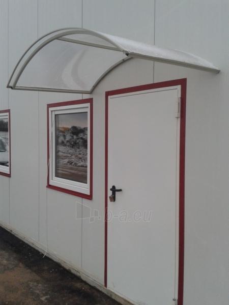 Durvju jumtiņš STARKEDACH ARKA 160x100x35 cm. Pelēks rāmis. Caurspīdīgs pārklājums. Paveikslėlis 1 iš 2 237970000052