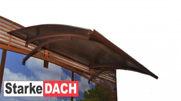 Durų stogelis STARKEDACH LENKTAS 160x100x25 cm. Rudas rėmas. Paveikslėlis 2 iš 2 237970000054
