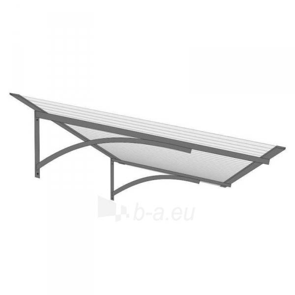 Door canopies STARKEDACH Straith 160x100x30 cm. Grey frame. Transparent cover Paveikslėlis 1 iš 1 237970000056