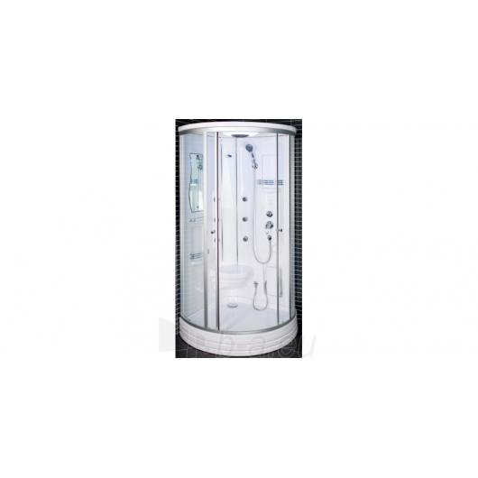 Duschy shower ketursienė su masažu 103x103x217cm LED Paveikslėlis 4 iš 4 310820079112