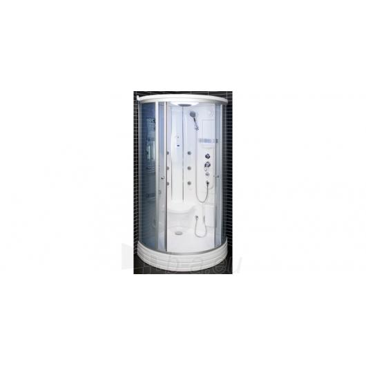 Duschy masažuojanti garo kabina tonuota 103x103x217 cm LED Paveikslėlis 9 iš 9 310820079117