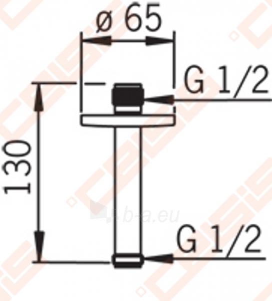 Dušo alkūnė iš lubų 130 mm ORAS Hydra Paveikslėlis 2 iš 2 270721000612