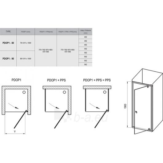 Dušo durys Pivot PDOP1 900x1900 Paveikslėlis 4 iš 4 270730001075