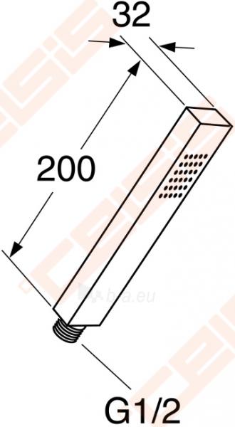 Dušo galva GUSTAVSBERG G1 chromuota Paveikslėlis 1 iš 1 270721000643