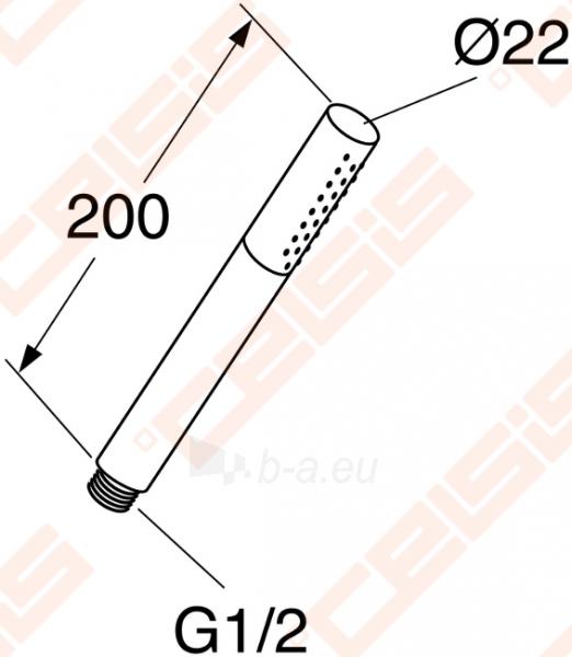 Dušo galva GUSTAVSBERG G2, chromuota Paveikslėlis 1 iš 1 270721000644