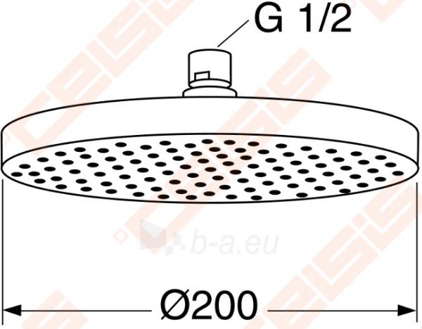 Dušo galva GUSTAVSBERG iš lubų apvali G2 200 mm Paveikslėlis 1 iš 1 270721000645