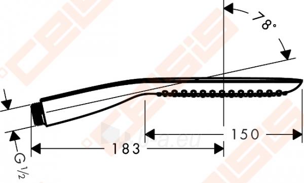Dušo galva HANSGROHE Pura Vida 120 mm 1jet, chromuota Paveikslėlis 2 iš 2 270721000652