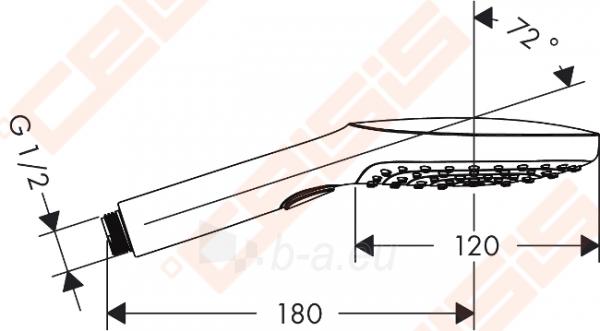 Dušo galva HANSGROHE Raindance Select E120 3jet EcoSmart Paveikslėlis 2 iš 7 270721000659