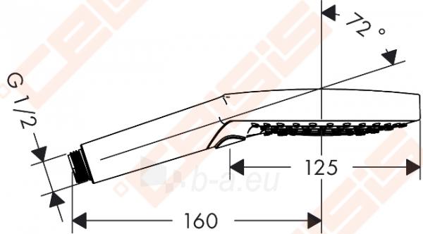 Dušo galva HANSGROHE Raindance Select S120 3jet Paveikslėlis 2 iš 5 270721000662