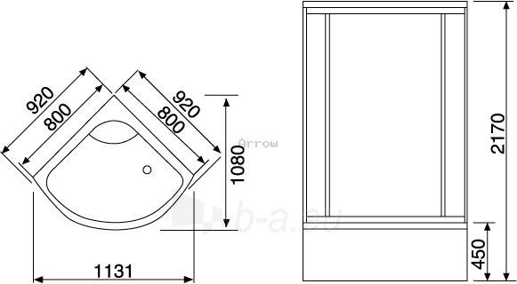 Dušo kabina Duschy ketursienė su masažu 92x92x217cm LED Paveikslėlis 6 iš 6 310820217375