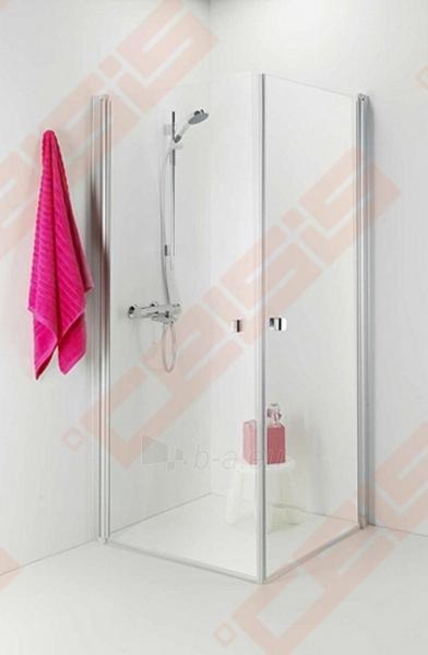 Dušo kabina IDO Showerama 8-02 100x100 su pilkos spalvos profliu ir skaidriu stiklu Paveikslėlis 1 iš 2 270730000996
