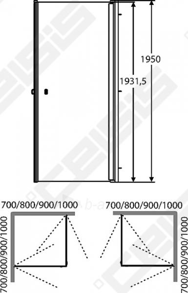 Dušo kabina IDO Showerama 8-02 100x100 su pilkos spalvos profliu ir skaidriu stiklu Paveikslėlis 2 iš 2 270730000996
