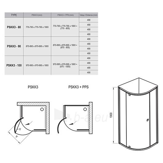 Shower enclosures Pivot PSKK3 900x1900 Paveikslėlis 4 iš 4 270730001097