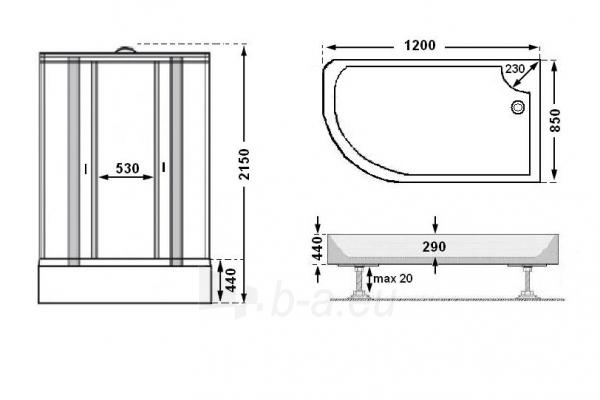 Dušo kabina SO72-18 fabric dešinė Paveikslėlis 2 iš 10 270730000522