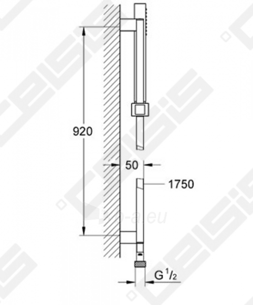 Dušo komplektas GROHE Euphoria Cube Stick, 90 cm Paveikslėlis 2 iš 2 270721000679