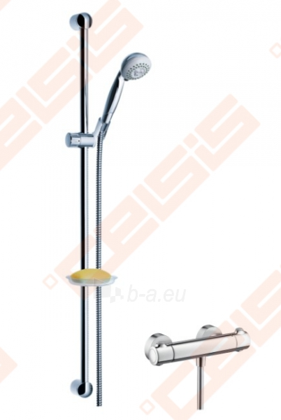 Dušo komplektas HANSGROHE Ecostat 1001 SL Combi 0,9 m su rankiniu dušu Croma 2jet Paveikslėlis 1 iš 2 270721000714