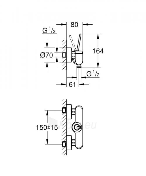 Dušo maišytuvas Eurodisc Joystick, baltas Paveikslėlis 2 iš 2 310820165707