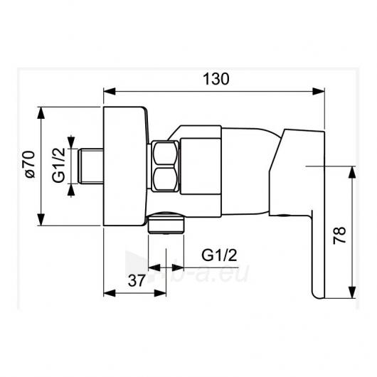 Dušo maišytuvas Ideal Standard Vito Paveikslėlis 2 iš 2 310820079299