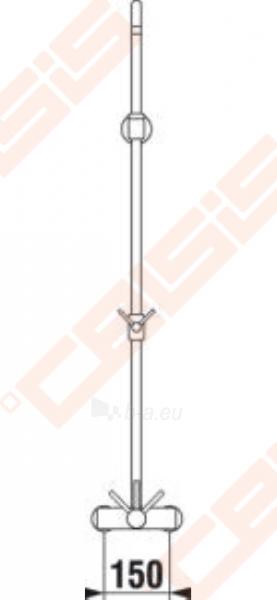 Dušo maišytuvas JIKA Lyra su dušo stovu, reguliuojamas aukštis (40 cm), be rankinio dušo komplekto Paveikslėlis 3 iš 3 270721000786