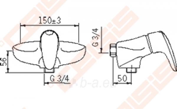 Dušo maišytuvas ORAS Vega. Paveikslėlis 2 iš 2 270721000792