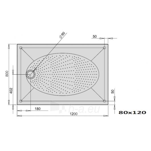 Dušo padėklas ART 120x80 Paveikslėlis 1 iš 2 270780000133