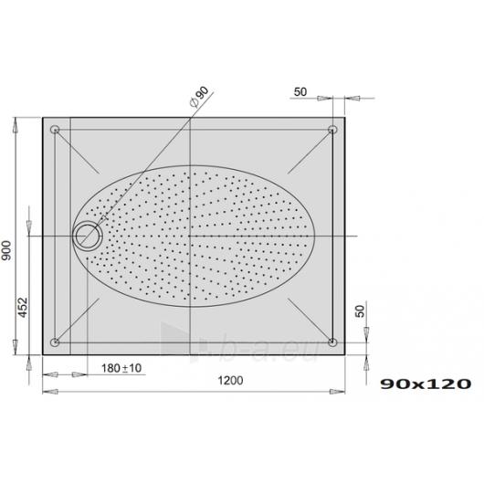 Shower tray ART 120x90 Paveikslėlis 1 iš 2 270730000736