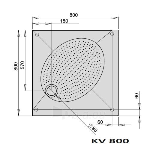 Dušo padėklas ART KV80 Paveikslėlis 1 iš 2 270730000737