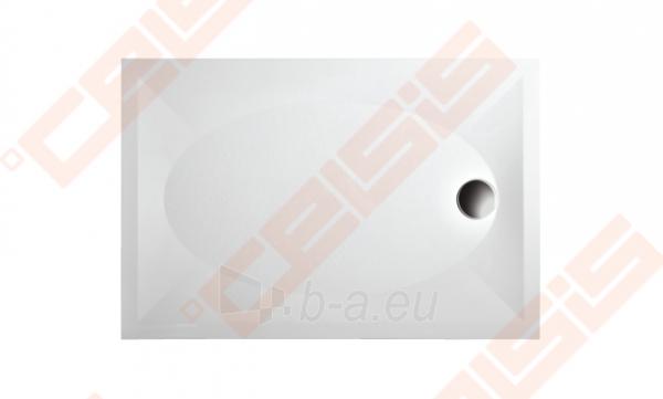 Dušo padėklas PAA ART 80x120 su panele ir kojelėmis, baltas Paveikslėlis 1 iš 2 270780000373