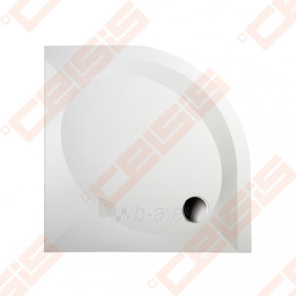 Dušo padėklas PAA ART 80x80 su panele ir kojelėmis, pilkas (radius 550) Paveikslėlis 1 iš 3 270780000371