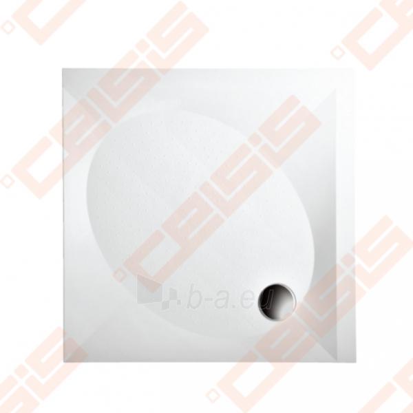 Dušo padėklas PAA ART 80x80 su panele ir kojelėmis, pilkas Paveikslėlis 1 iš 2 270780000210