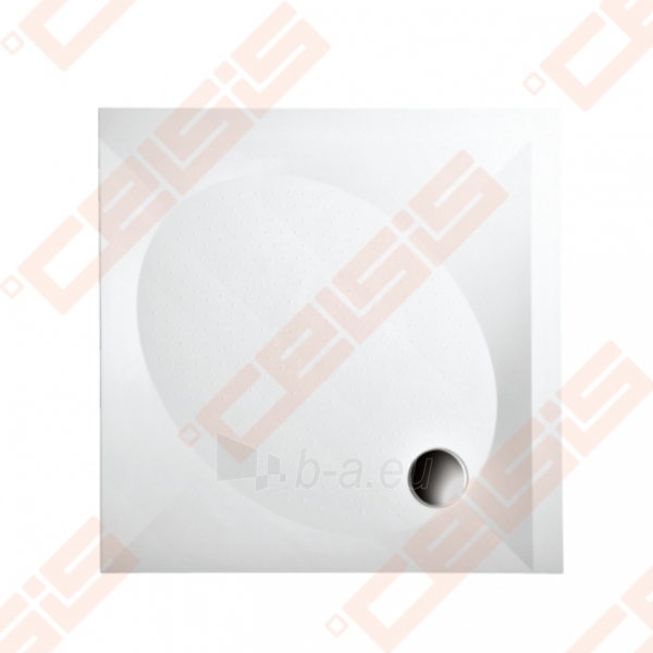 Dušo padėklas PAA ART 90x90 su panele ir kojelėmis, baltas Paveikslėlis 1 iš 2 270780000213