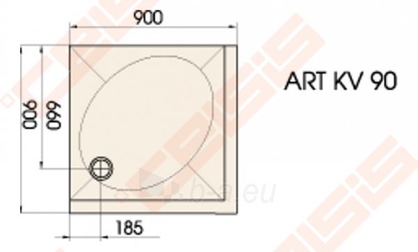 Dušo padėklas PAA ART 90x90 su panele ir kojelėmis, baltas Paveikslėlis 2 iš 2 270780000213