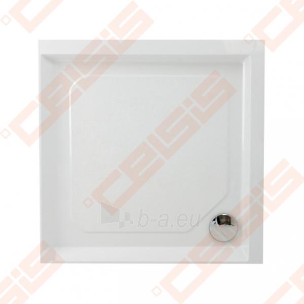 Dušo padėklas PAA CLASSIC 100x100 su panele ir kojelėmis, baltas Paveikslėlis 1 iš 2 270780000318