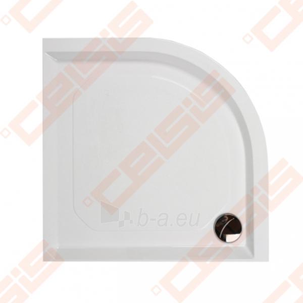 Dušo padėklas PAA CLASSIC 100x100 su panele ir kojelėmis, pilkas (radius 550) Paveikslėlis 1 iš 2 270780000315