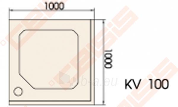 Dušo padėklas PAA CLASSIC 100x100 su panele ir kojelėmis, pilkas Paveikslėlis 2 iš 2 270780000316