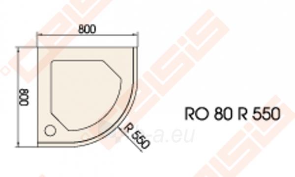 Dušo padėklas PAA CLASSIC 80x80 su panele ir kojelėmis, baltas (radius 550) Paveikslėlis 2 iš 2 270780000215