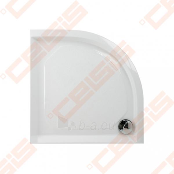 Dušo padėklas PAA CLASSIC 80x80 su panele ir kojelėmis, pilkas (radius 550) Paveikslėlis 1 iš 2 270780000313