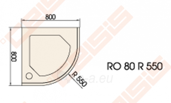 Dušo padėklas PAA CLASSIC 80x80 su panele ir kojelėmis, pilkas (radius 550) Paveikslėlis 2 iš 2 270780000313