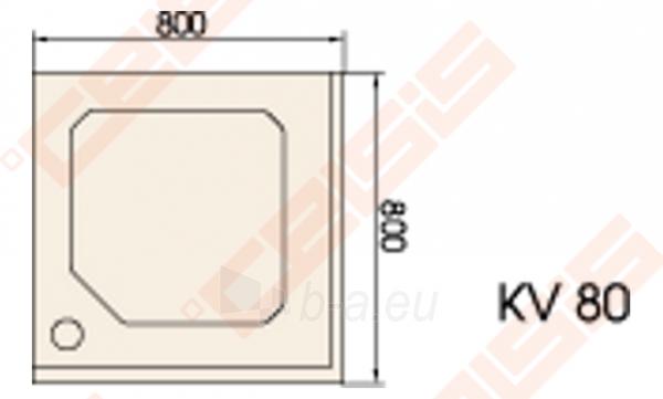 Dušo padėklas PAA CLASSIC 80x80 su panele ir kojelėmis, pilkas Paveikslėlis 2 iš 2 270780000216