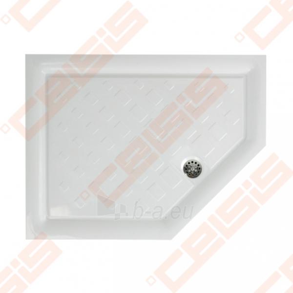 Dušo padėklas PAA CLASSIC 900x700x500 su panele ir kojelėmis, dešininis, pilkas Paveikslėlis 1 iš 2 270780000311