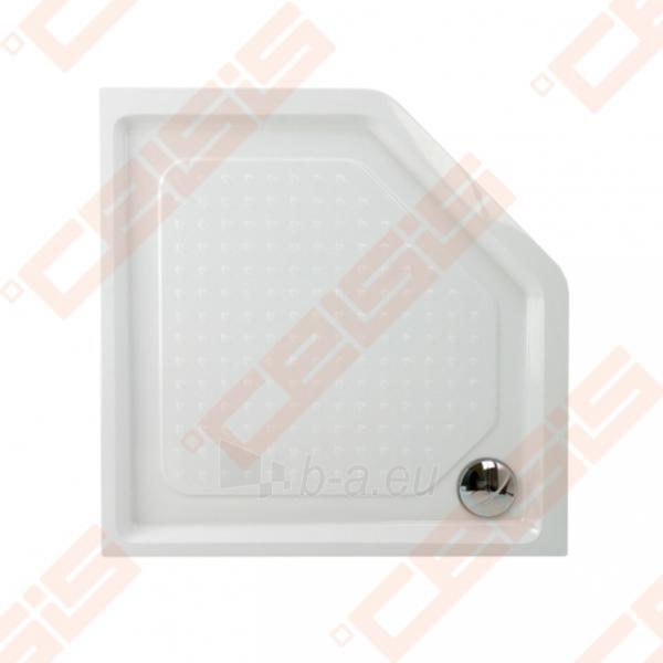 Dušo padėklas PAA CLASSIC 900x900x500 su panele ir kojelėmis, baltas Paveikslėlis 1 iš 2 270780000308