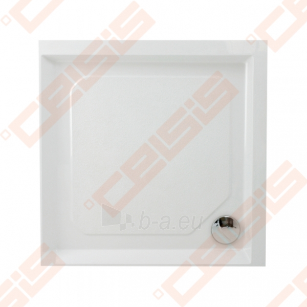 Dušo padėklas PAA CLASSIC 90x90 su panele ir kojelėmis, baltas Paveikslėlis 1 iš 2 270780000303